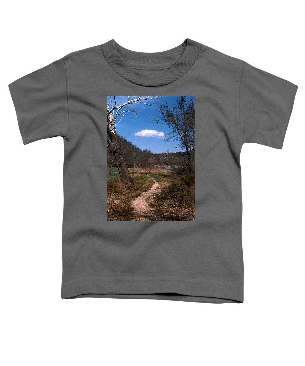 Landscape Toddler T-Shirt featuring the photograph Cloud Destination by Steve Karol