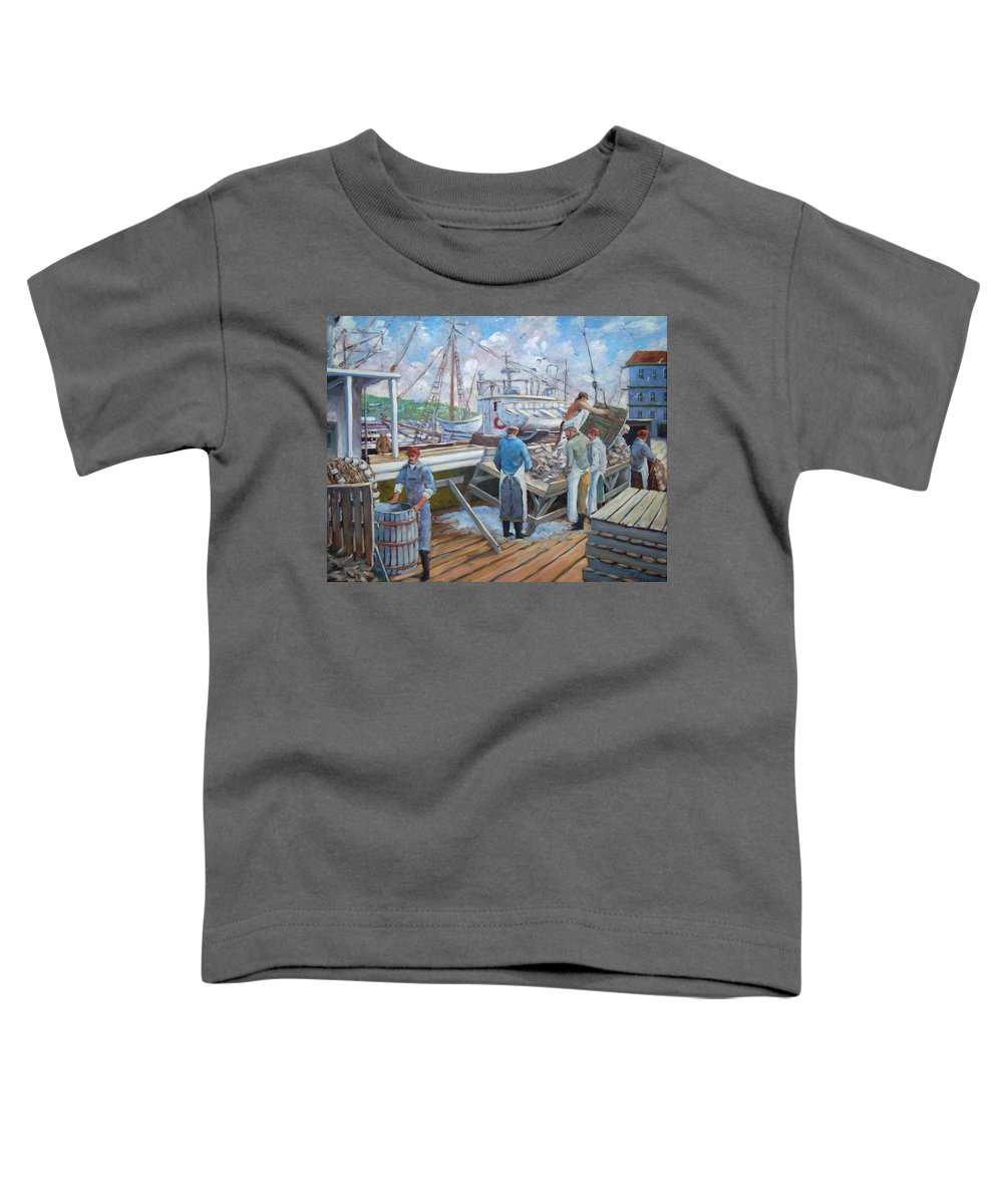 Cod Toddler T-Shirt featuring the painting Cod Memories by Richard T Pranke