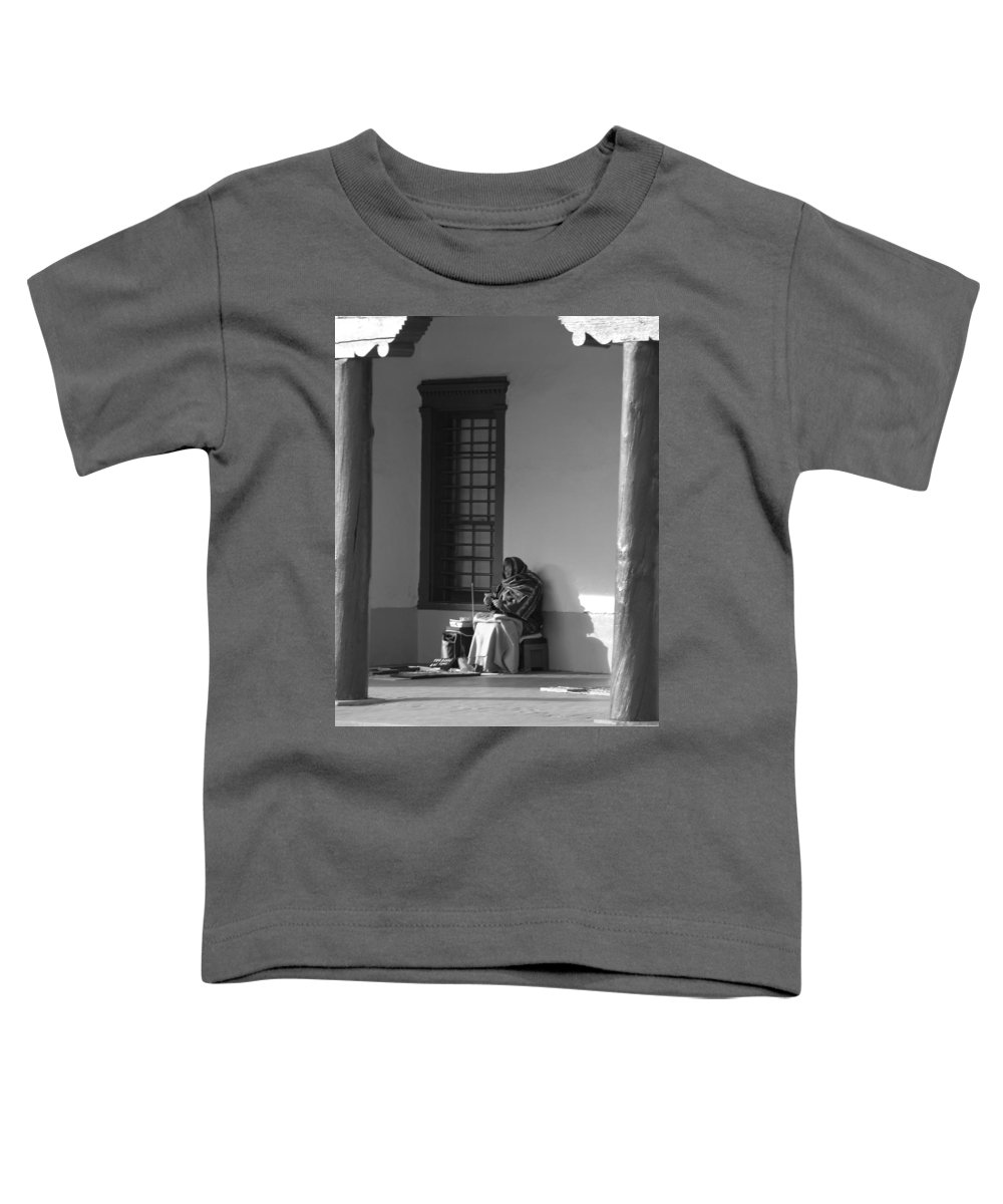 Southwestern Toddler T-Shirt featuring the photograph Cold Native American Woman by Rob Hans