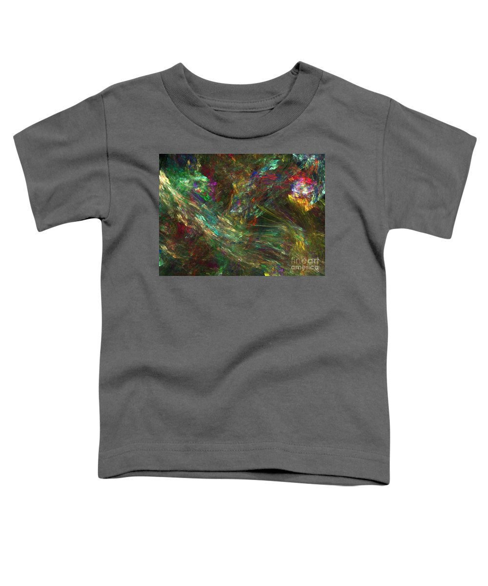 Fractals Toddler T-Shirt featuring the digital art Colors Of Light by Richard Rizzo