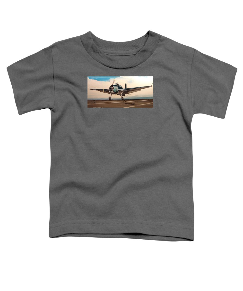 Painting Toddler T-Shirt featuring the painting Coming Aboard by Marc Stewart
