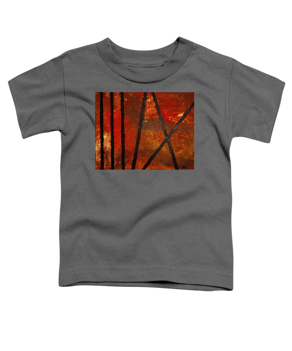 Original Abstract Acrylic Toddler T-Shirt featuring the painting Coming Apart by Todd Hoover