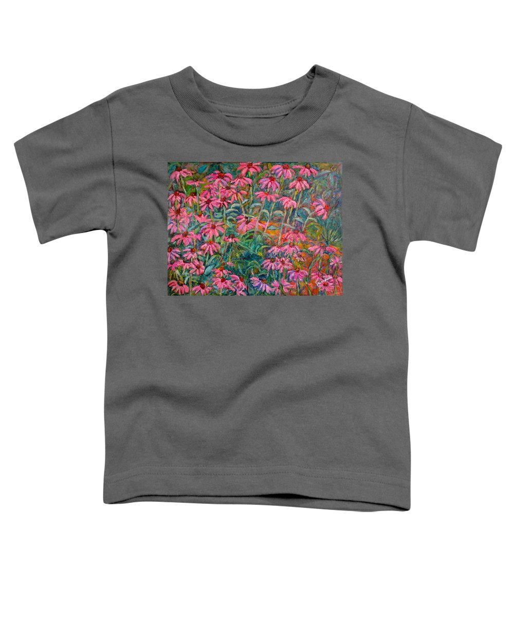 Kendall Kessler Toddler T-Shirt featuring the painting Coneflowers by Kendall Kessler