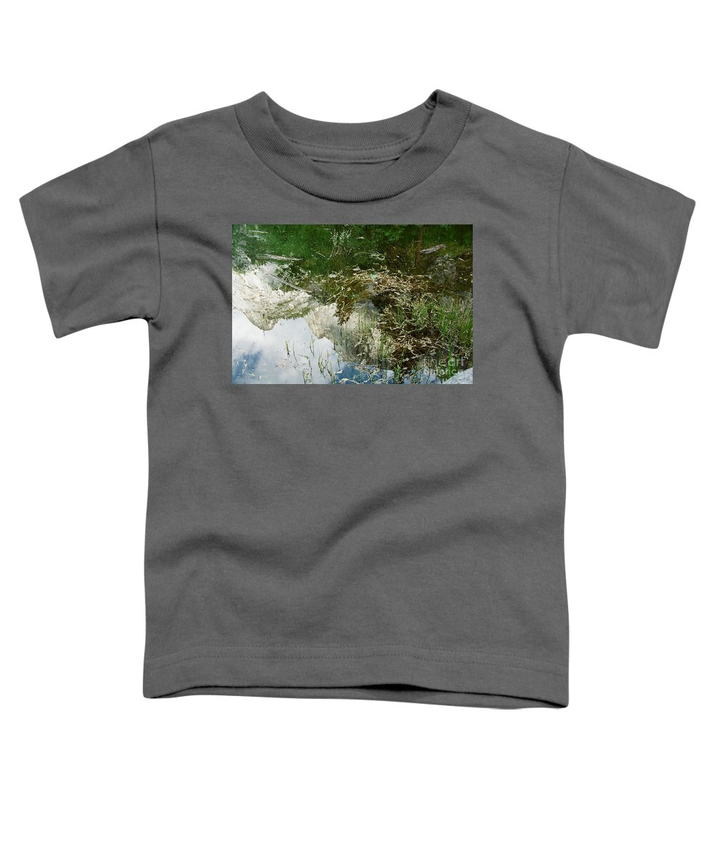 Mirror Lake Toddler T-Shirt featuring the photograph Confusion by Kathy McClure