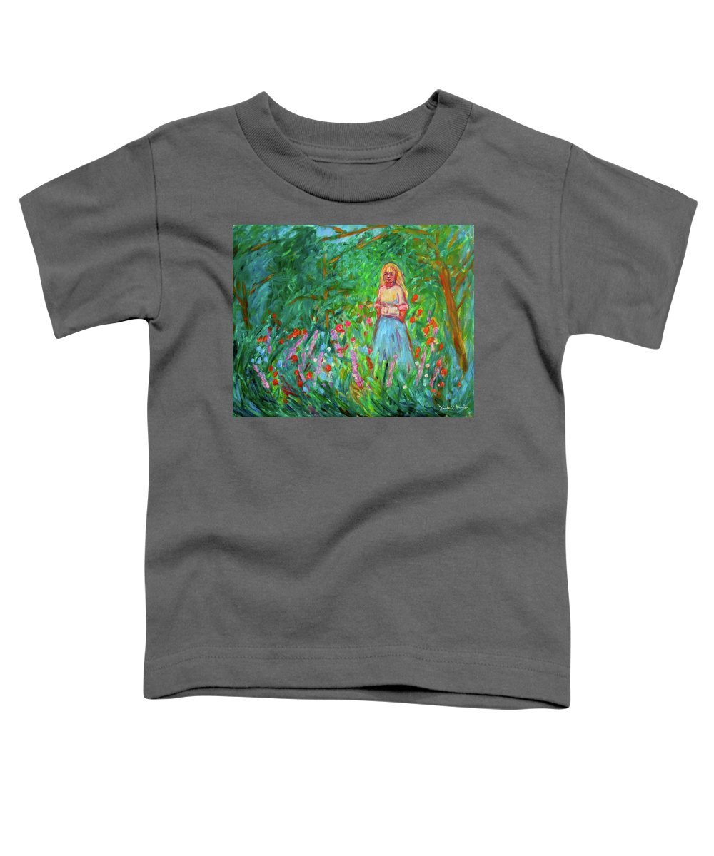 Landscape Toddler T-Shirt featuring the painting Contemplation by Kendall Kessler