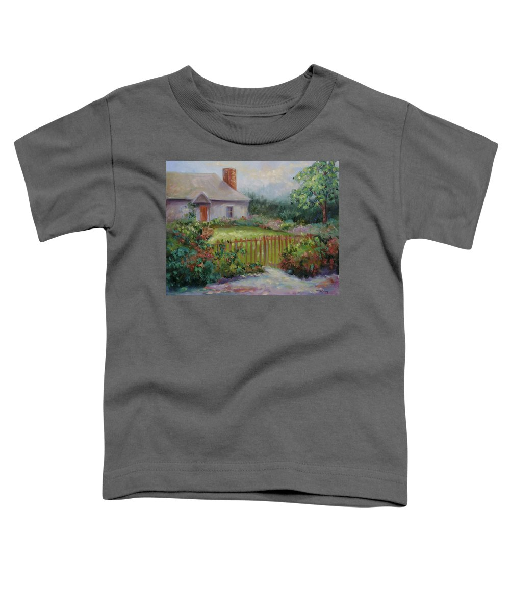 Cottswold Toddler T-Shirt featuring the painting Cottswold Cottage by Ginger Concepcion