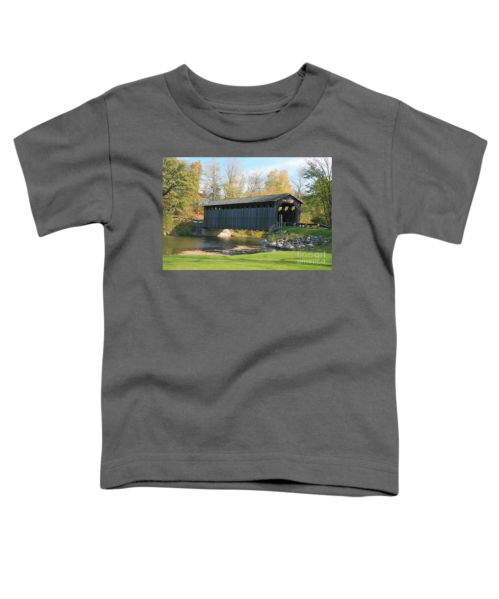 Covered Bridge Toddler T-Shirt featuring the photograph Covered Bridge by Robert Pearson
