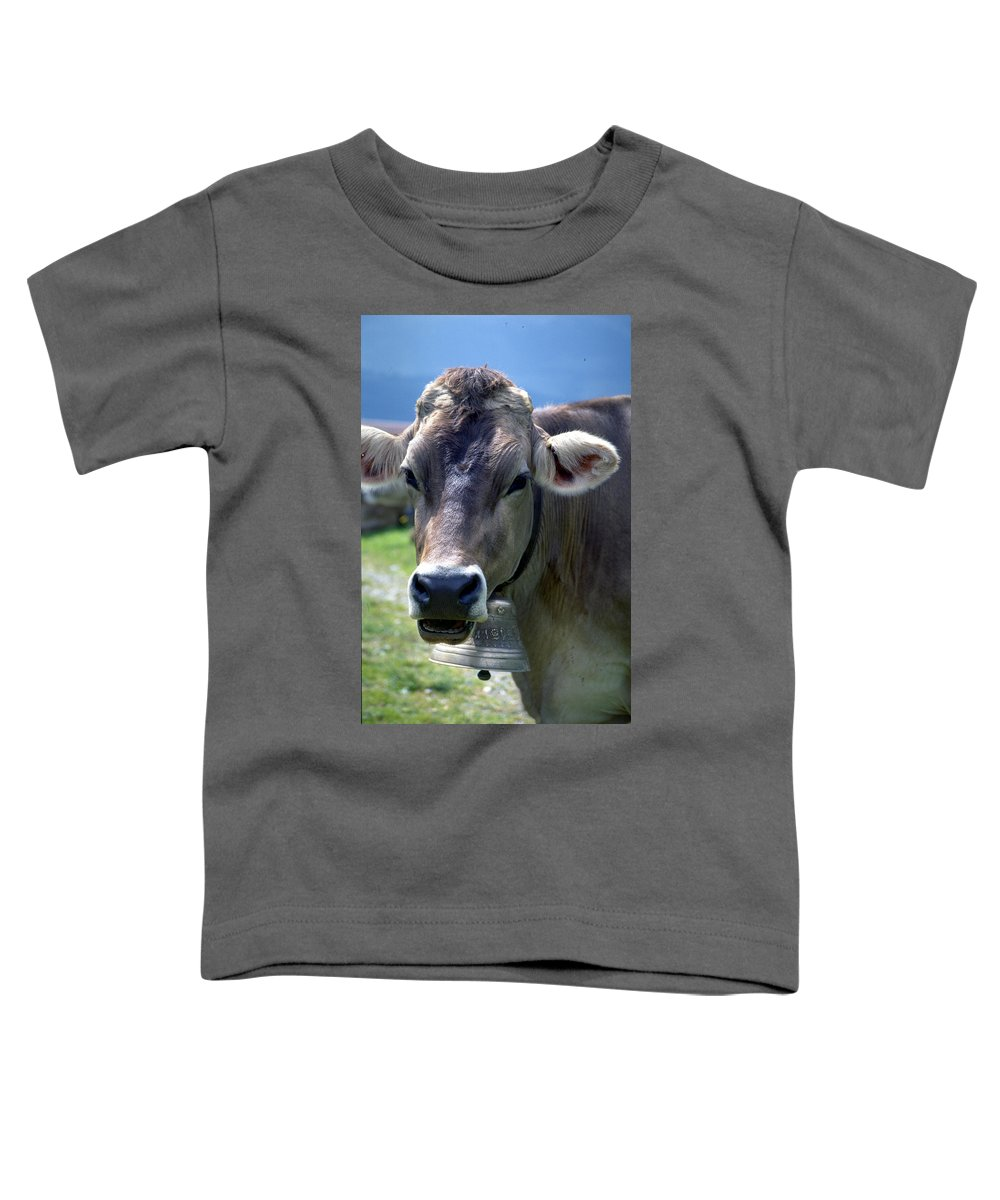 Cow Toddler T-Shirt featuring the photograph Cow by Flavia Westerwelle
