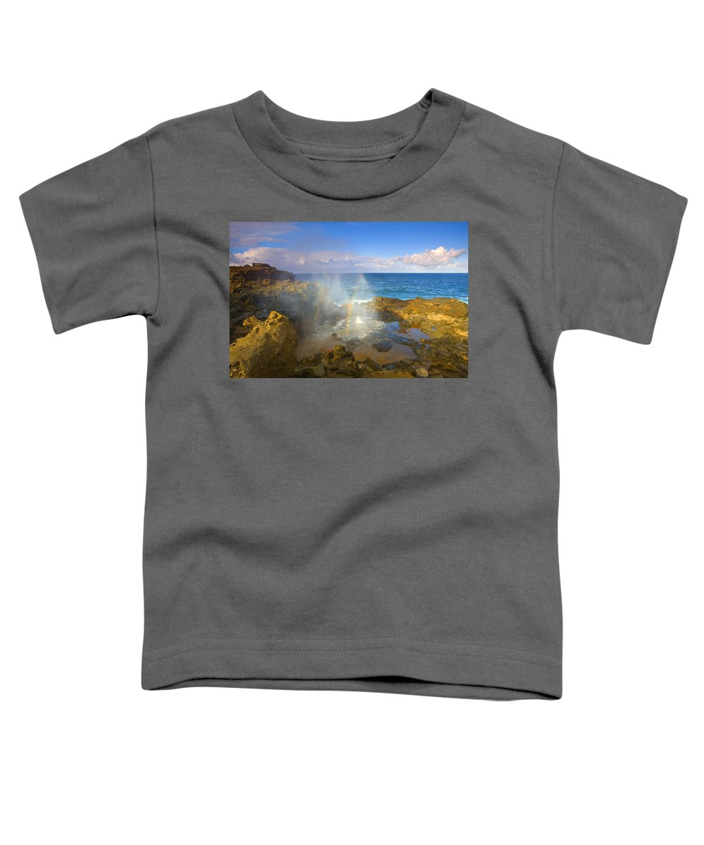Blowhole Toddler T-Shirt featuring the photograph Creating Miracles by Mike Dawson