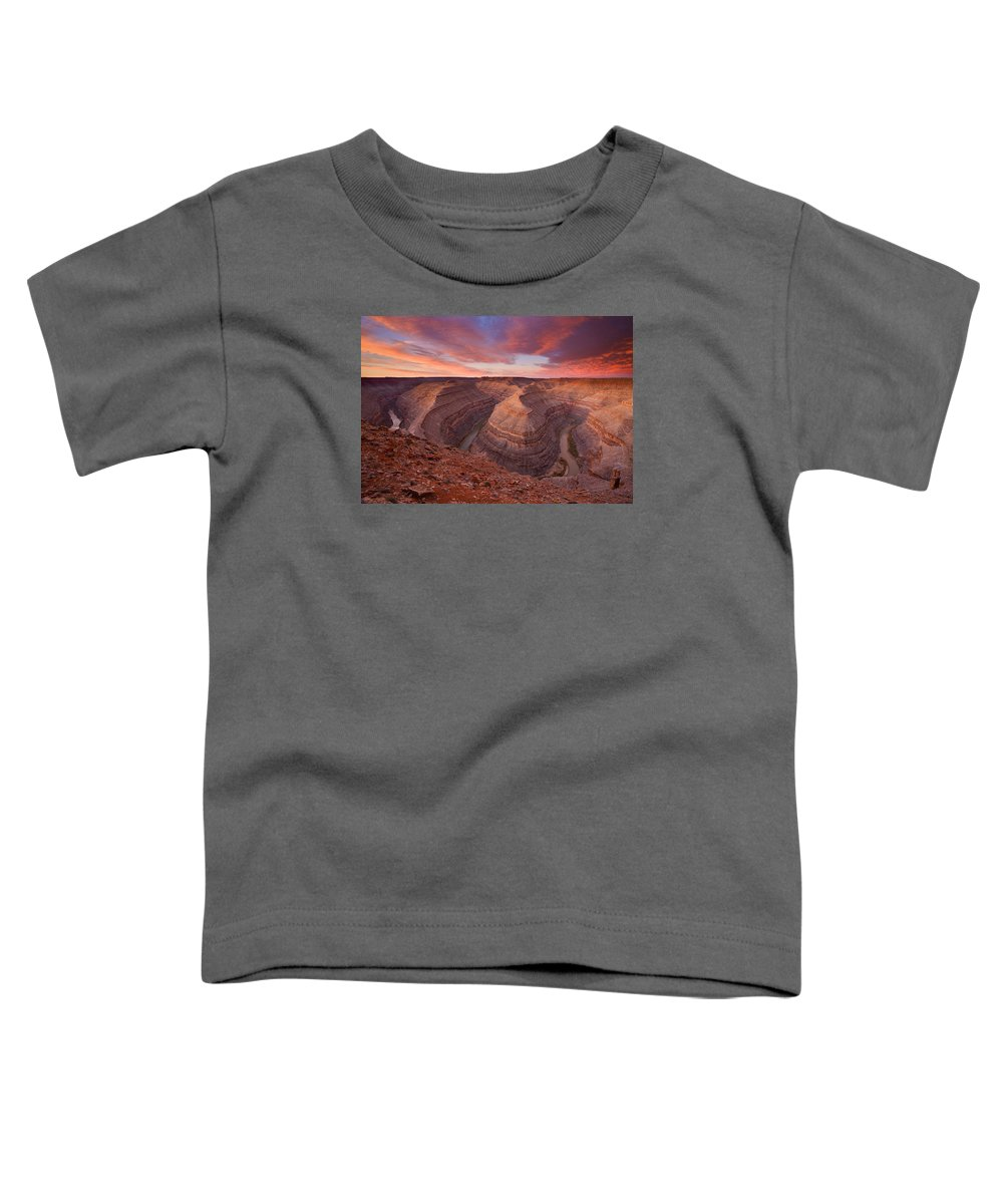 Canyon Toddler T-Shirt featuring the photograph Curves Ahead by Mike Dawson