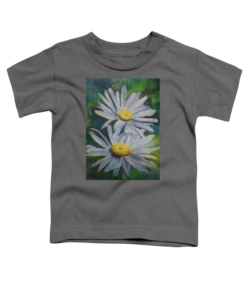Daisies Toddler T-Shirt featuring the painting Daisies by Melinda Etzold