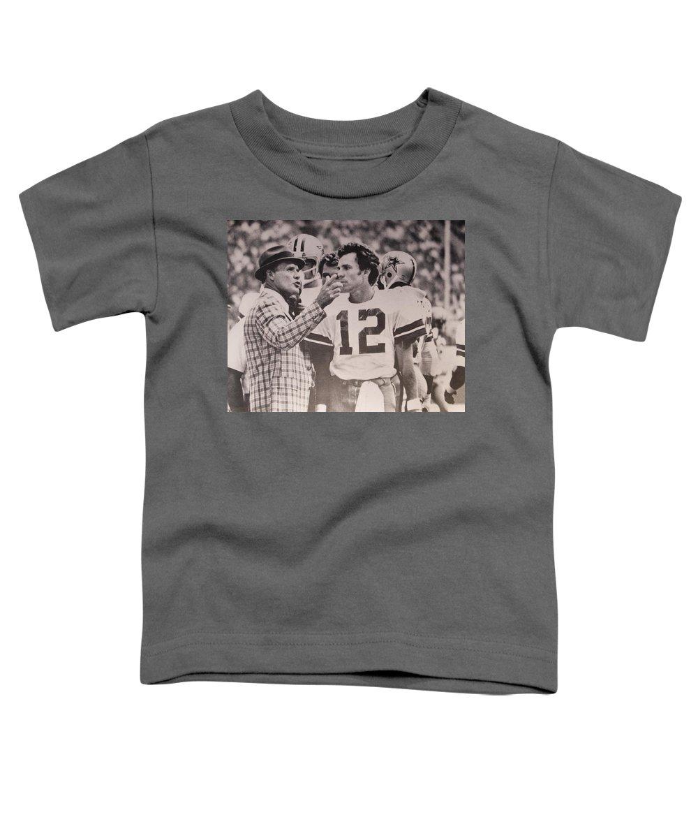 best sneakers 6ab72 fbf53 Dallas Cowboys Head Coach Tom Landry And #12 Quarterback Roger Staubach  Toddler T-Shirt