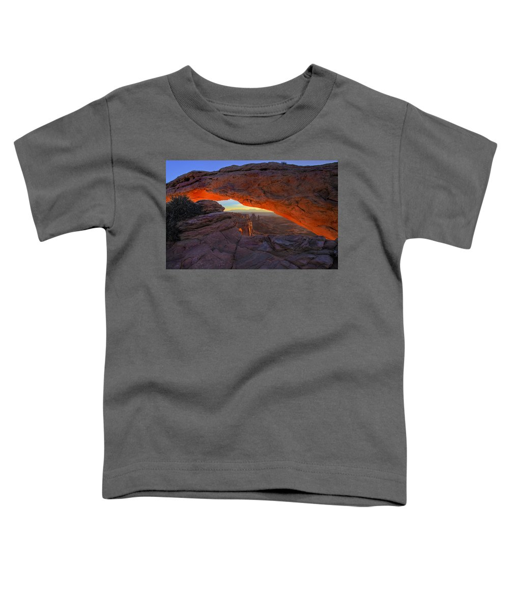 Mesa Arch Toddler T-Shirt featuring the photograph Dawns Early Light by Mike Dawson