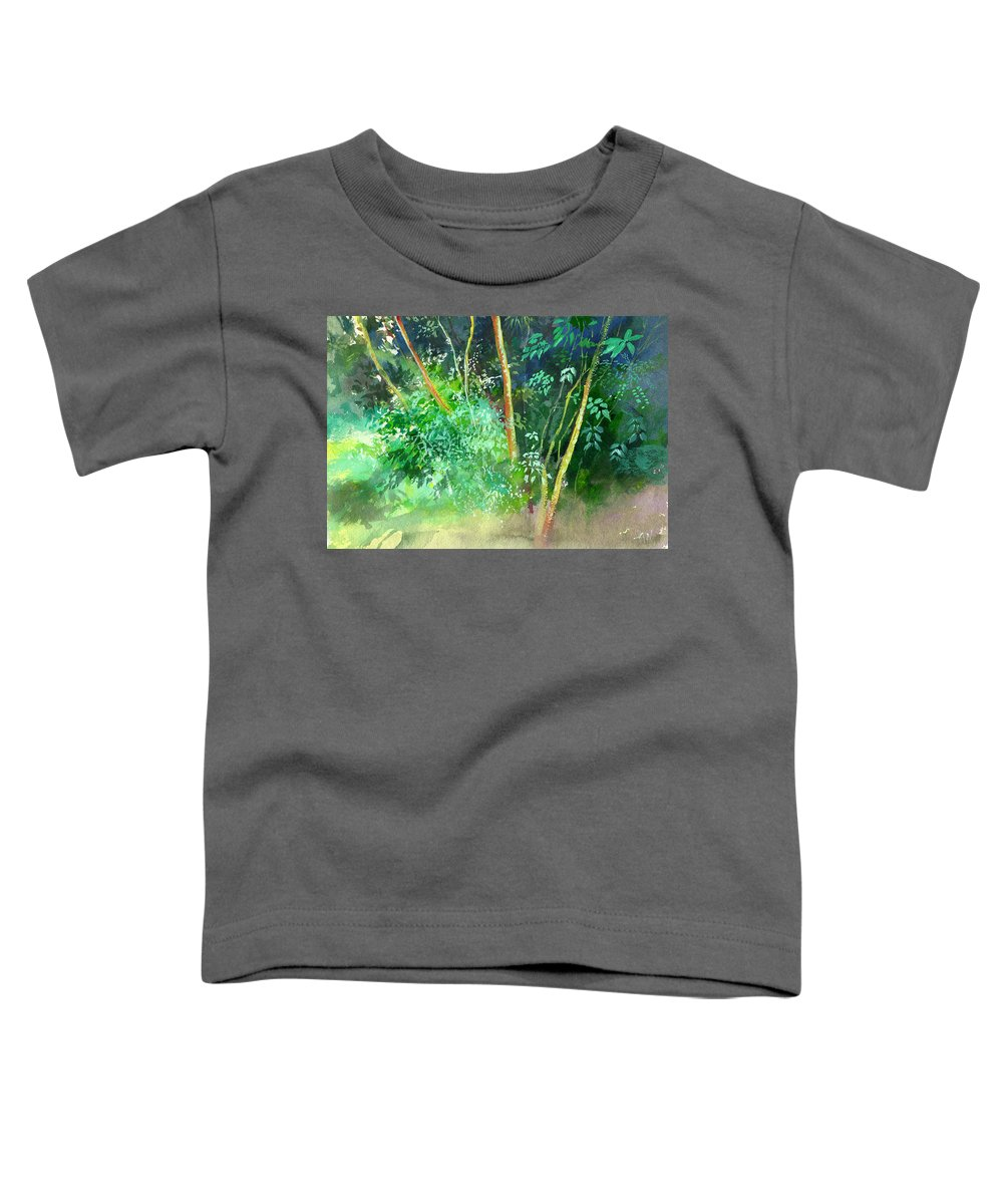 Water Color Toddler T-Shirt featuring the painting Deep by Anil Nene