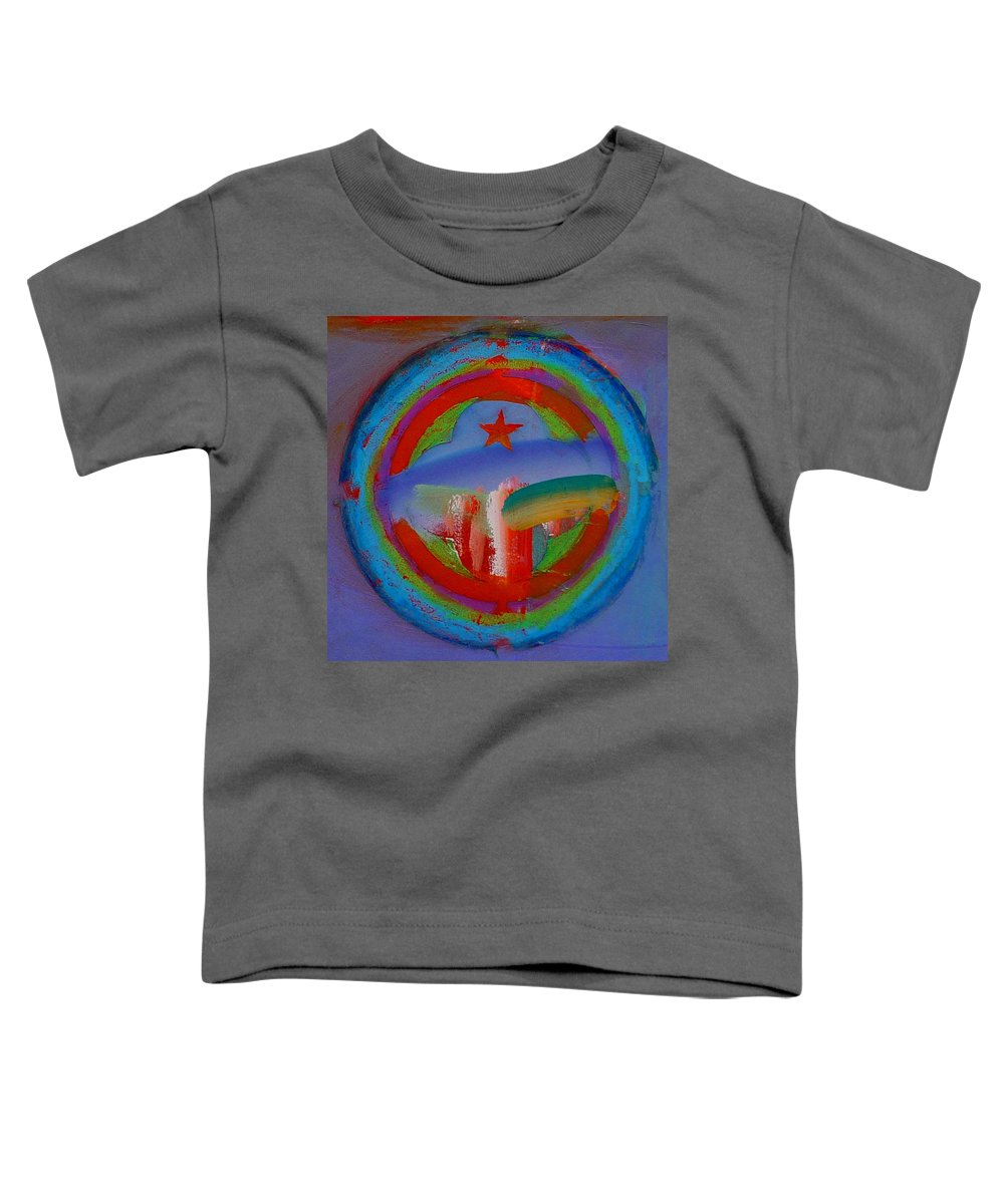 Logo Toddler T-Shirt featuring the painting Deep Blue Decal by Charles Stuart