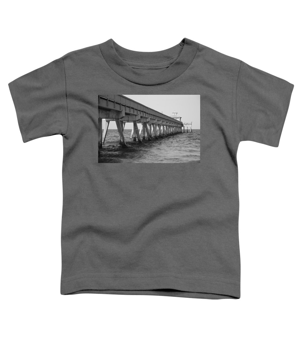 Architecture Toddler T-Shirt featuring the photograph Deerfield Beach Pier by Rob Hans