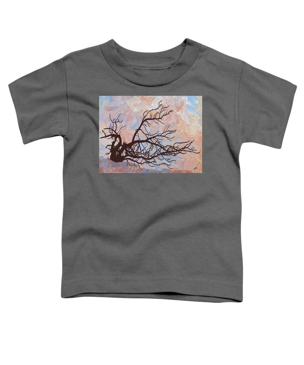 Abstract Toddler T-Shirt featuring the digital art Desert Tree Branch by Linda Mears