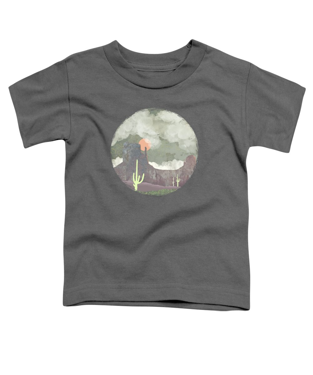 Desert Toddler T-Shirt featuring the digital art Desertscape by Spacefrog Designs