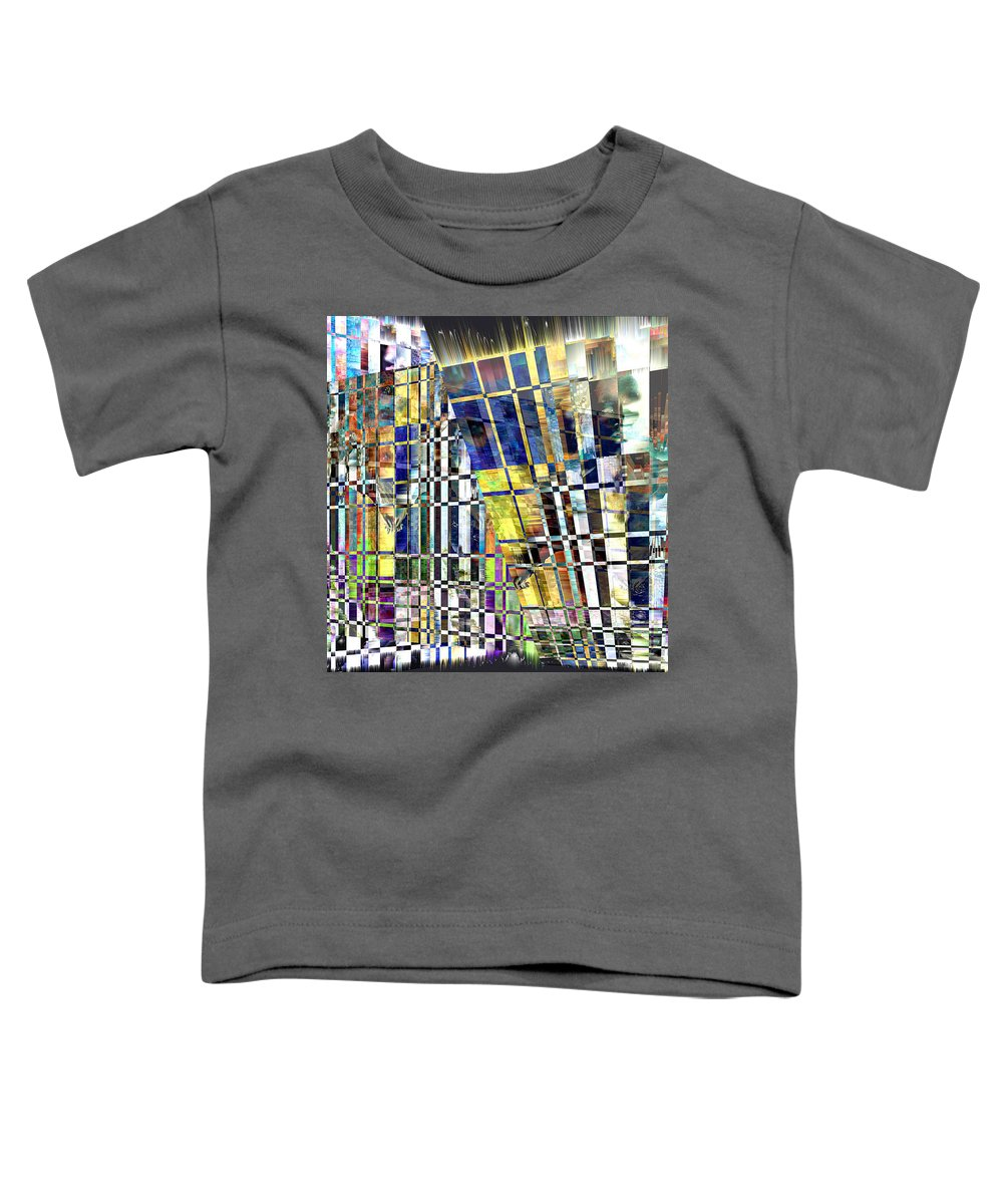 Abstract Toddler T-Shirt featuring the digital art Desperate Reflections by Seth Weaver