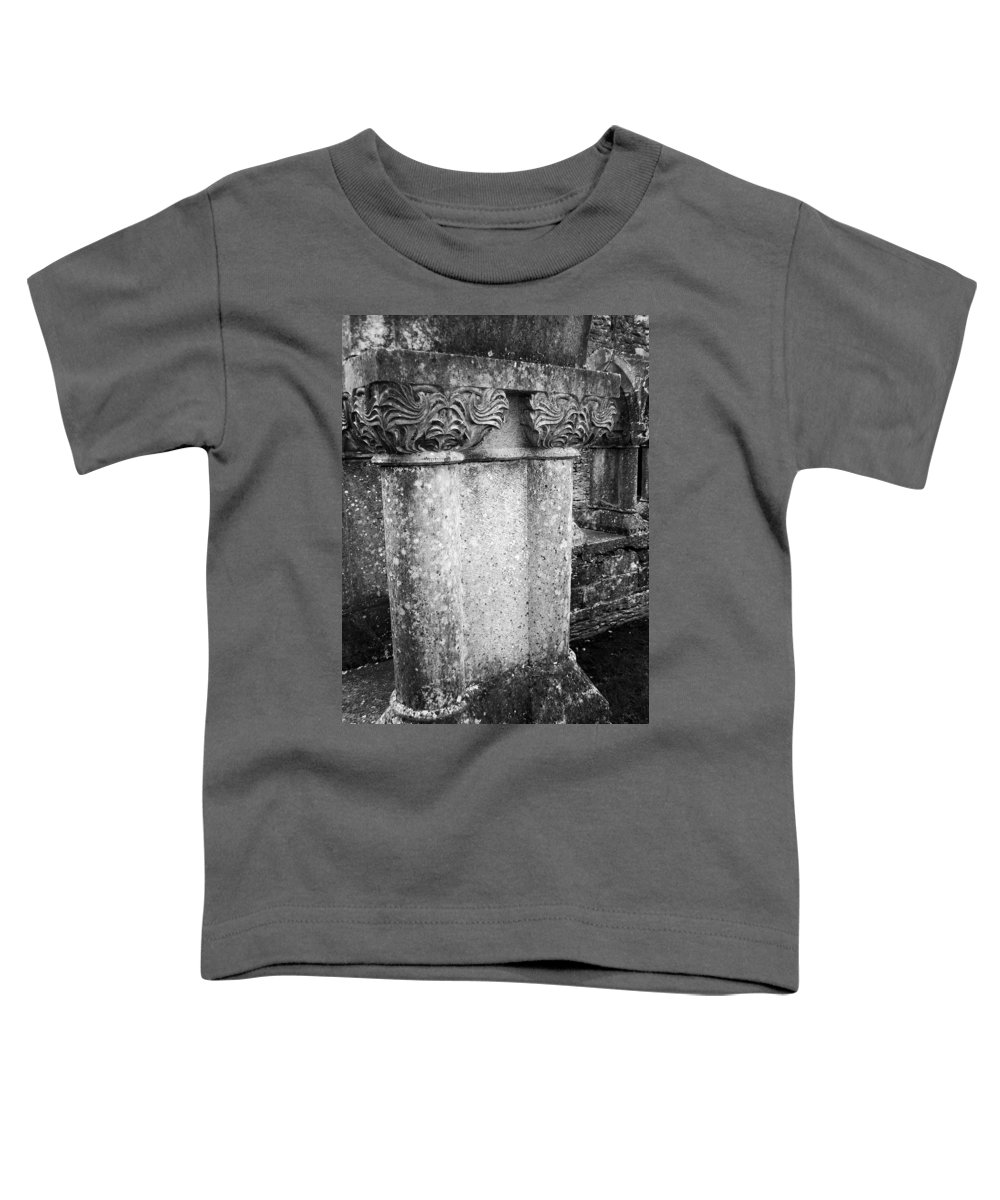 Irish Toddler T-Shirt featuring the photograph Detail Of Capital Of Cloister At Cong Abbey Cong Ireland by Teresa Mucha