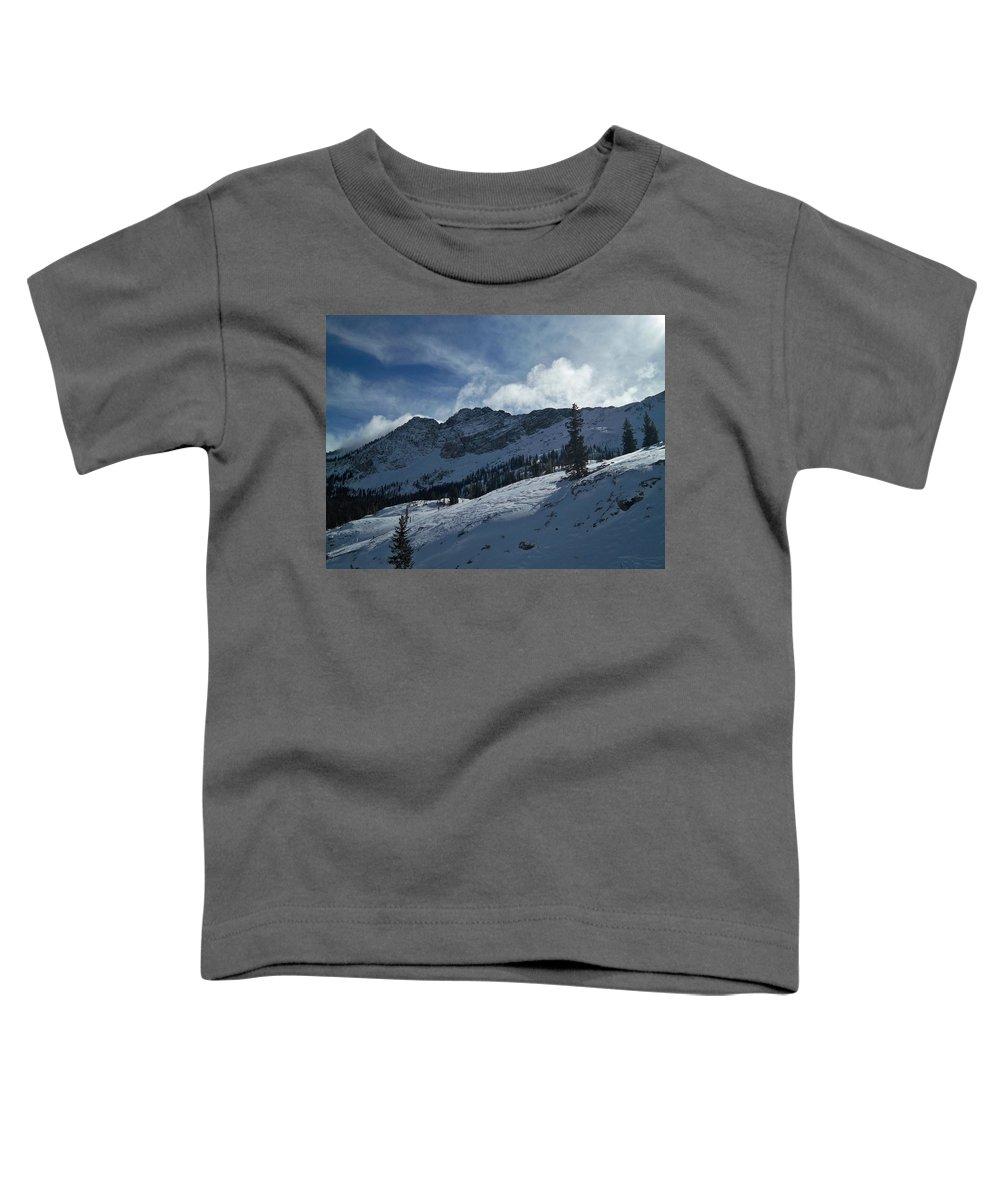 Ski Toddler T-Shirt featuring the photograph Devils Castle Morning Light by Michael Cuozzo