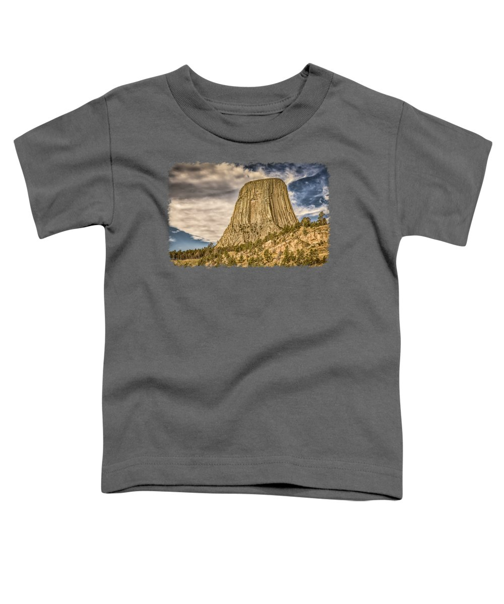 Landscape Toddler T-Shirt featuring the photograph Devils Tower Inspiration 3 by John M Bailey