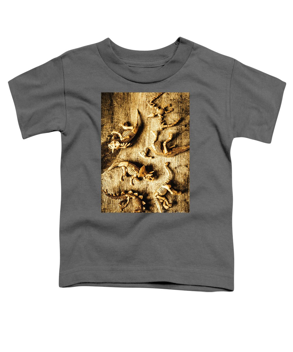 Skeletons Toddler T-Shirt featuring the photograph Dinosaurs In A Bone Display by Jorgo Photography - Wall Art Gallery