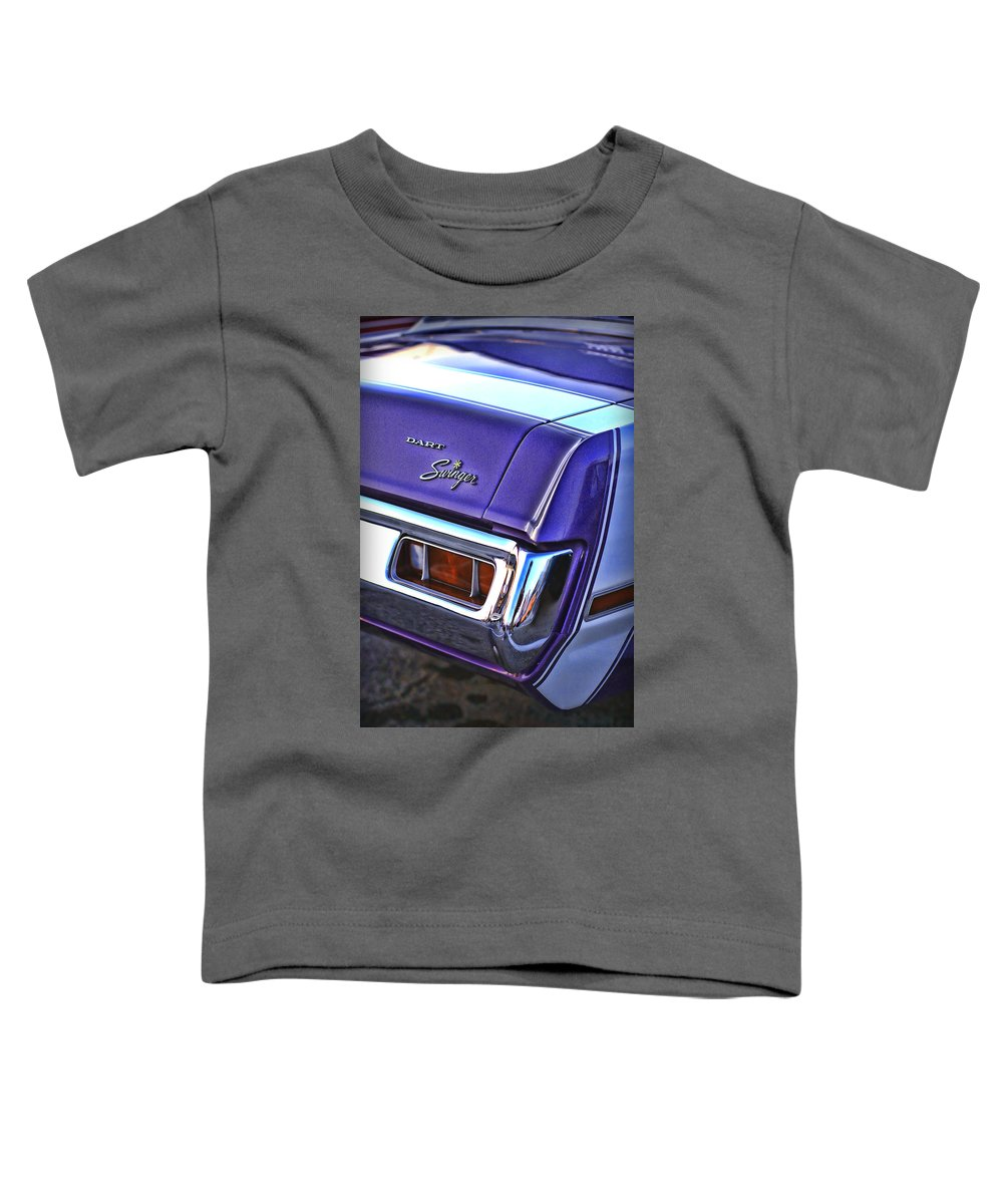 Dodge Toddler T-Shirt featuring the photograph Dodge Dart Swinger by Gordon Dean II