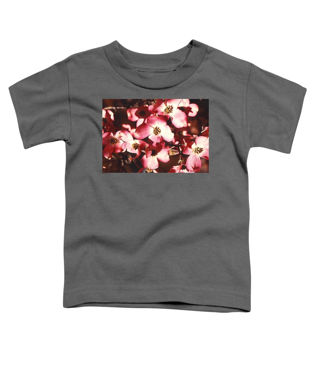 Dogwood Toddler T-Shirt featuring the photograph Dogwood Harmony by Nancy Mueller