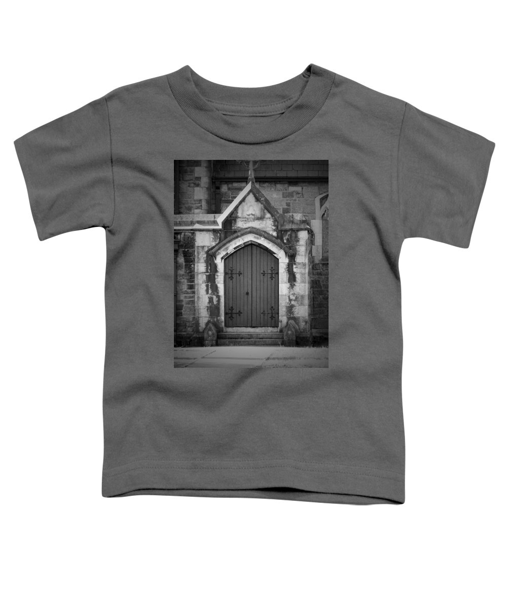 Irish Toddler T-Shirt featuring the photograph Door At St. Johns In Tralee Ireland by Teresa Mucha