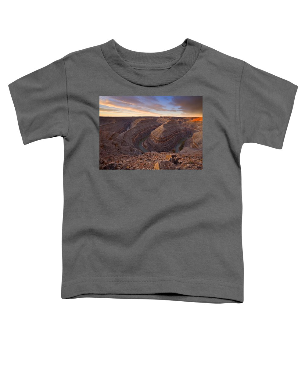 Goosenecks State Park Toddler T-Shirt featuring the photograph Doubleback by Mike Dawson