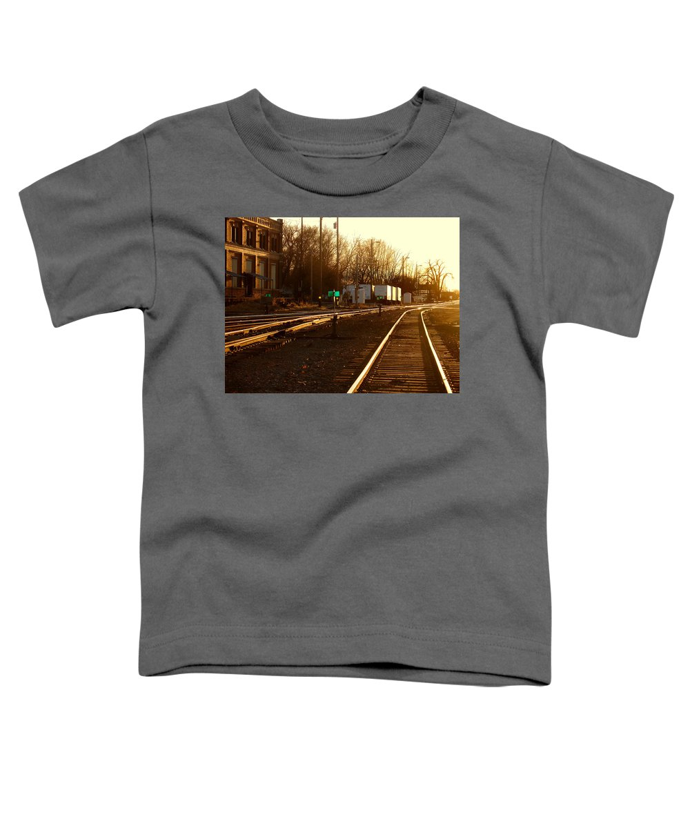 Landscape Toddler T-Shirt featuring the photograph Down The Right Track by Steve Karol