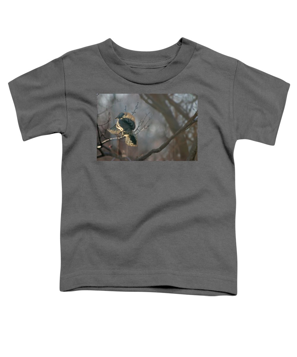 Nature Toddler T-Shirt featuring the photograph Downey Woodpecker by Steve Karol
