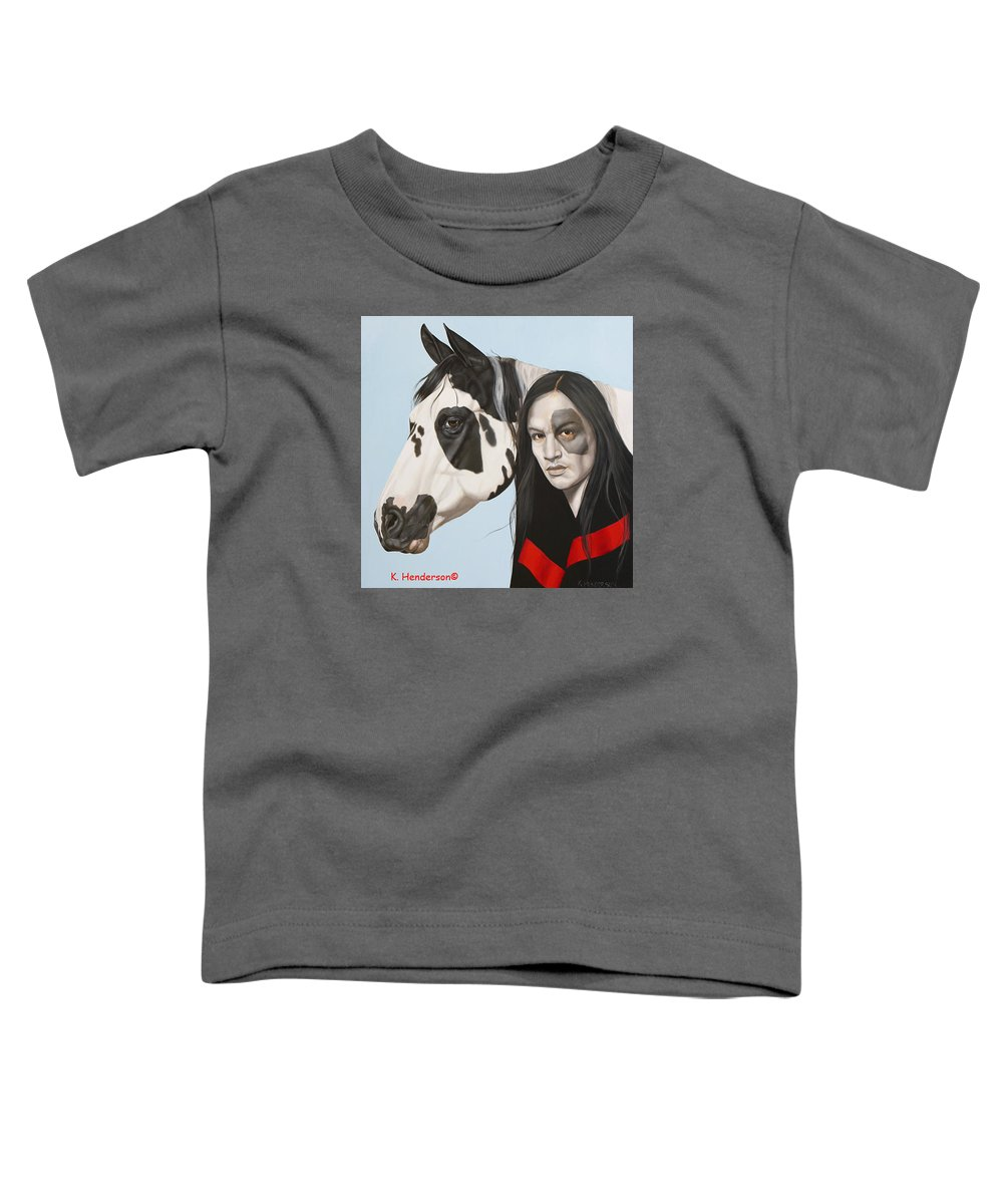 Cowgirl Toddler T-Shirt featuring the painting Dreams Await by K Henderson