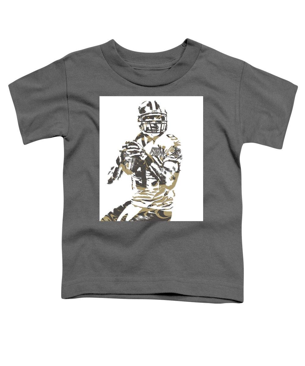2c0e8e181 Drew Brees New Orleans Saints Pixel Art 7 Toddler T-Shirt for Sale by Joe  Hamilton