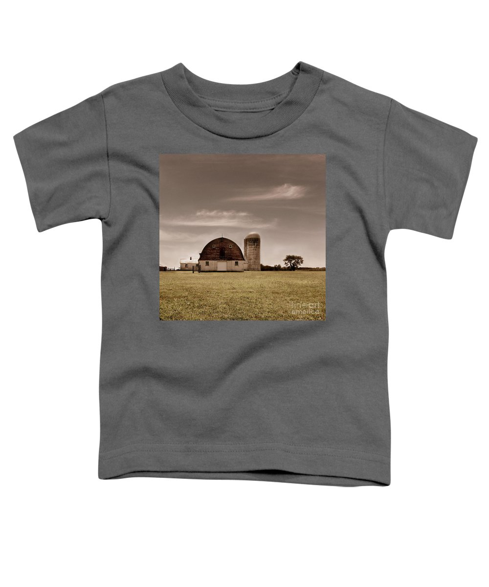 Farm Toddler T-Shirt featuring the photograph Dry Earth Crumbles Between My Fingers And I Look To The Sky For Rain by Dana DiPasquale