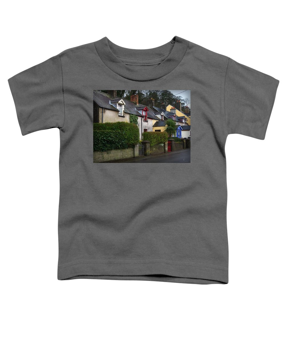 Ireland Toddler T-Shirt featuring the photograph Dunmore Houses by Tim Nyberg