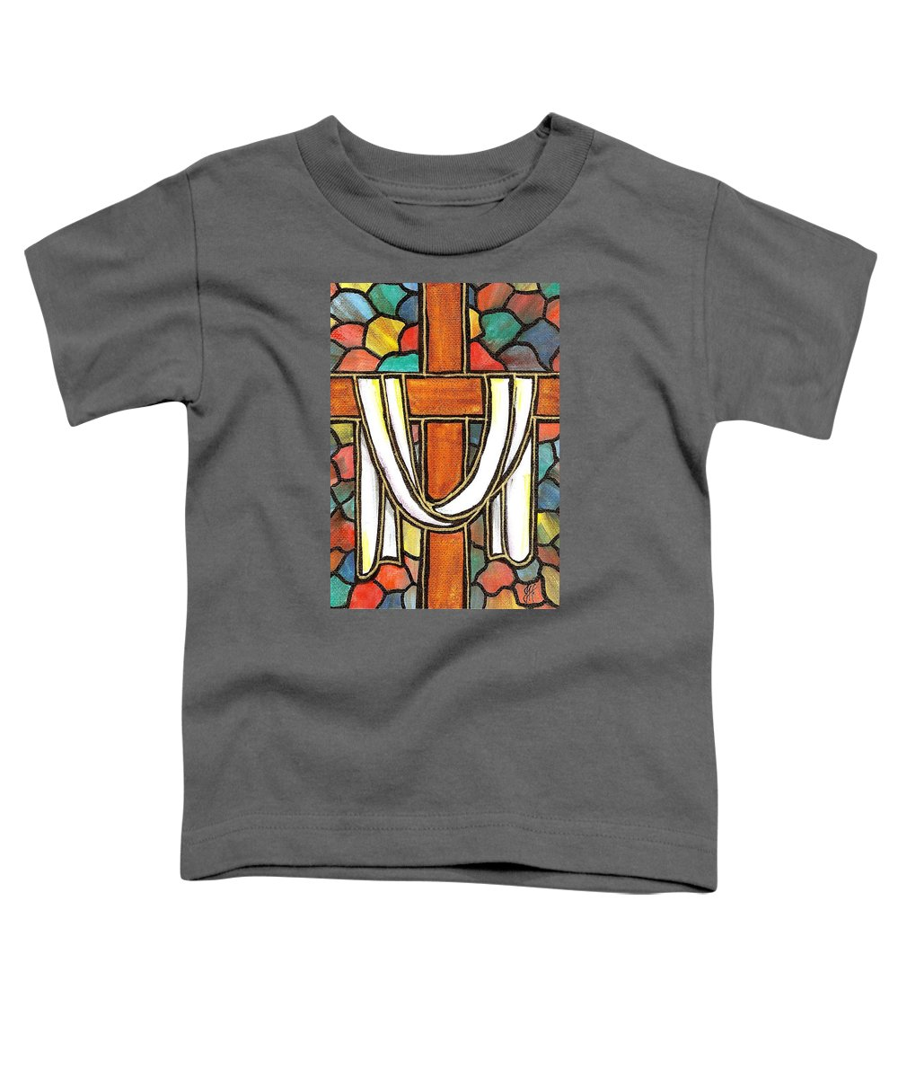 Easter Toddler T-Shirt featuring the painting Easter Cross 6 by Jim Harris