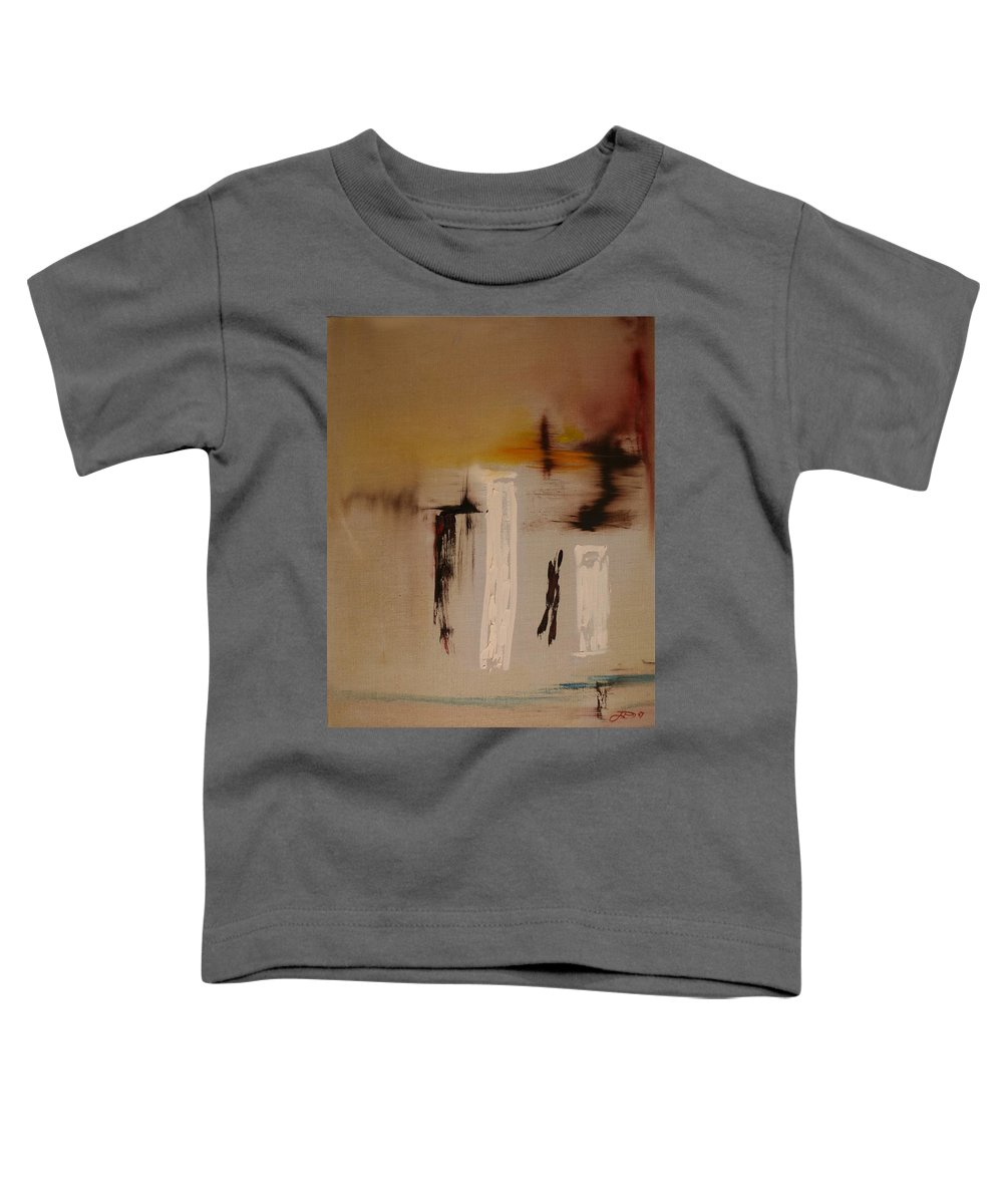 Abstract Toddler T-Shirt featuring the painting Easy by Jack Diamond