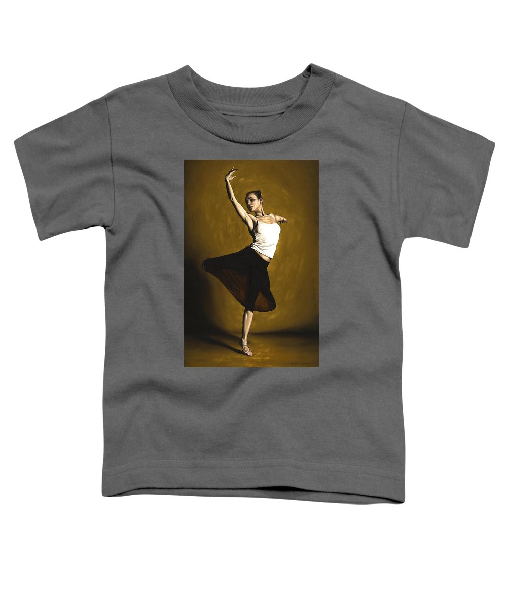 Elegant Toddler T-Shirt featuring the painting Elegant Dancer by Richard Young