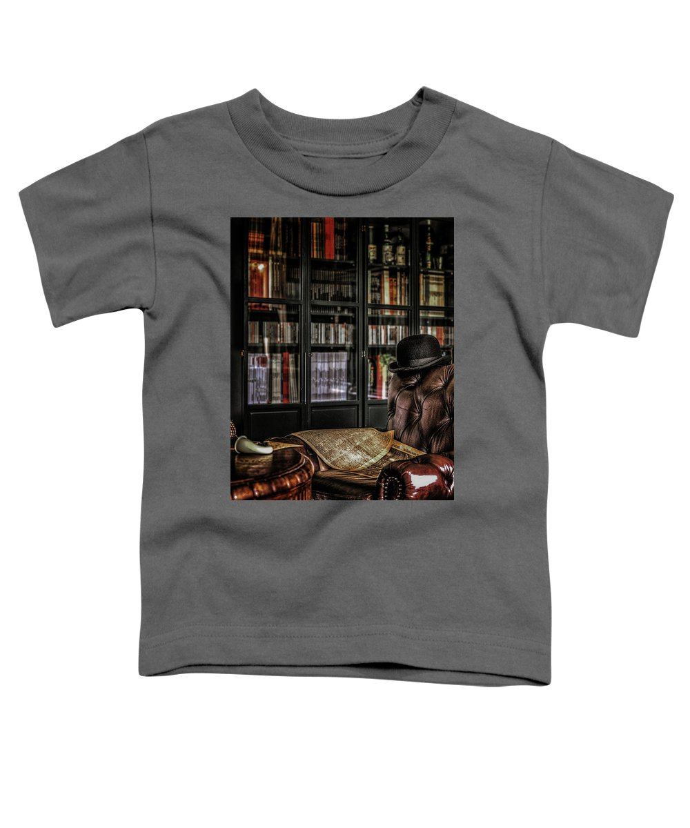 221b Toddler T-Shirt featuring the photograph Elementary, My Dear Watson by Hans Zimmer