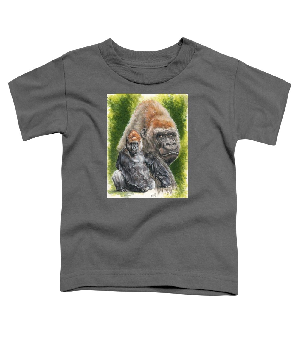 Gorilla Toddler T-Shirt featuring the mixed media Eloquent by Barbara Keith