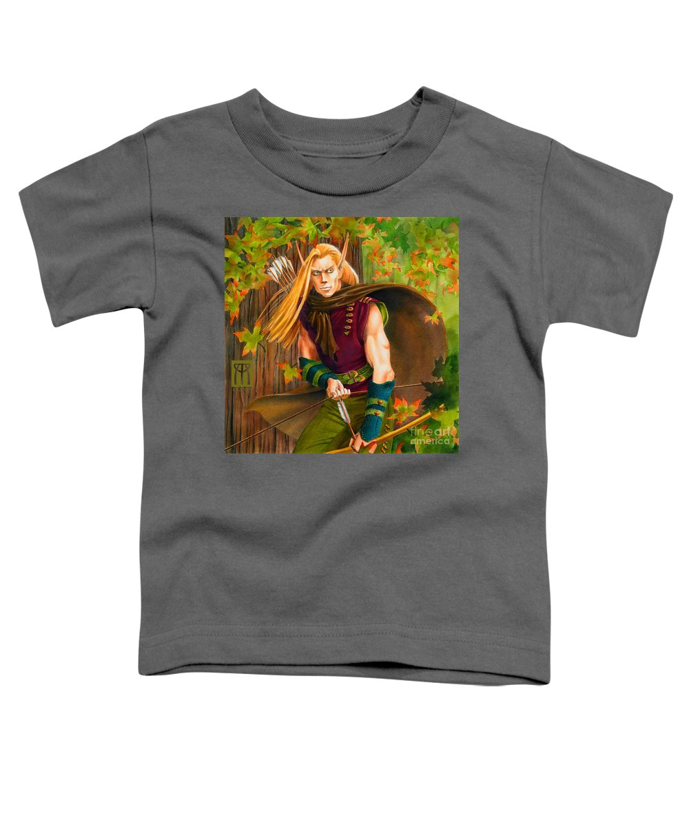 Elf Toddler T-Shirt featuring the painting Elven Hunter by Melissa A Benson