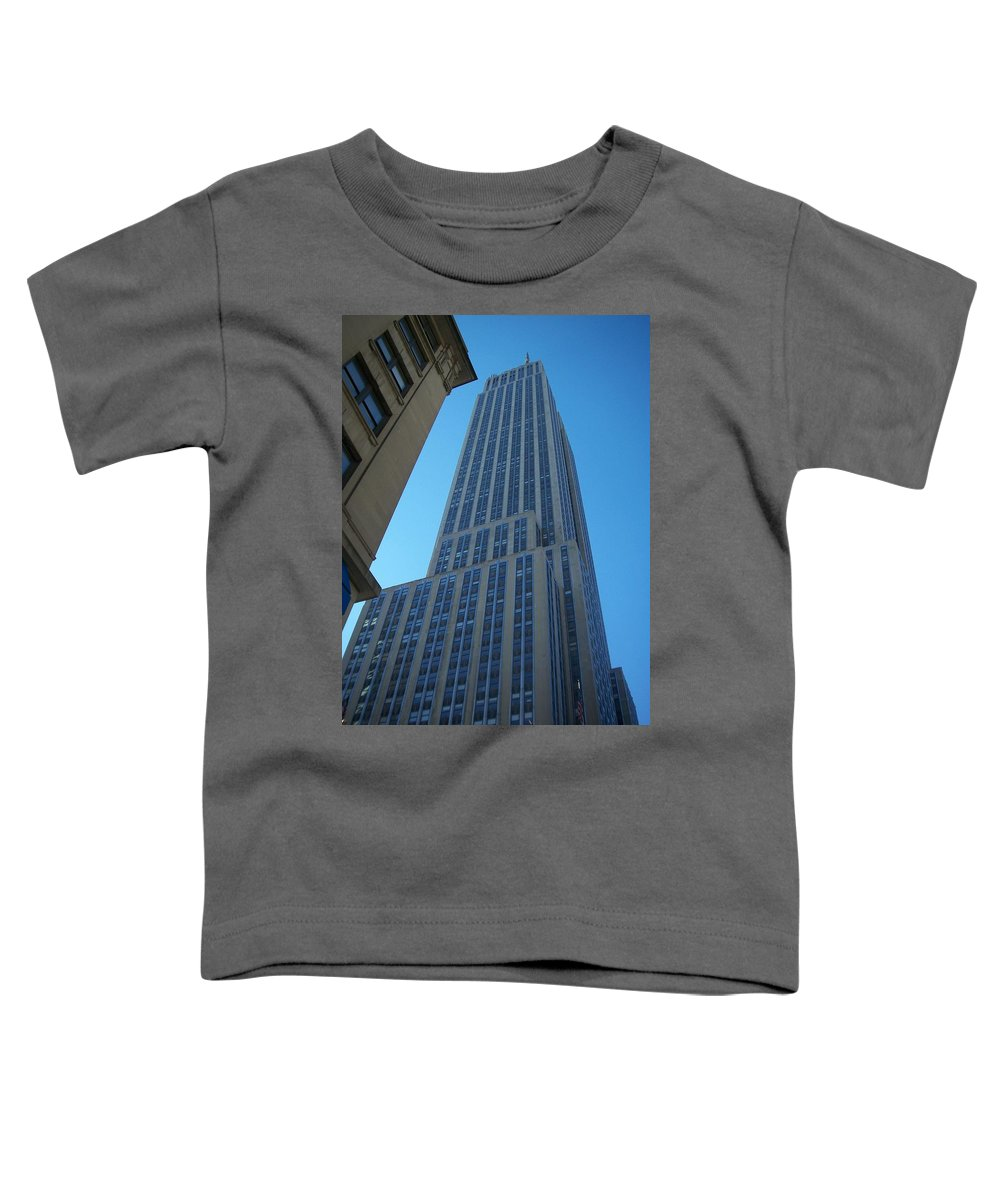 Emoire State Building Toddler T-Shirt featuring the photograph Empire State 2 by Anita Burgermeister