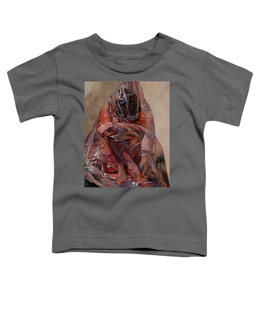 Nude Toddler T-Shirt featuring the painting Encompassed by Valerie Patterson