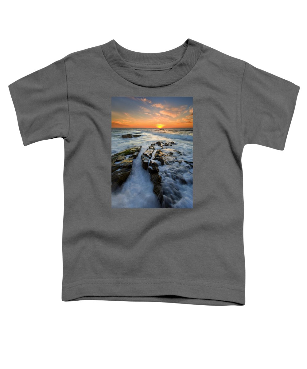 Sunset Toddler T-Shirt featuring the photograph Engulfed by Mike Dawson