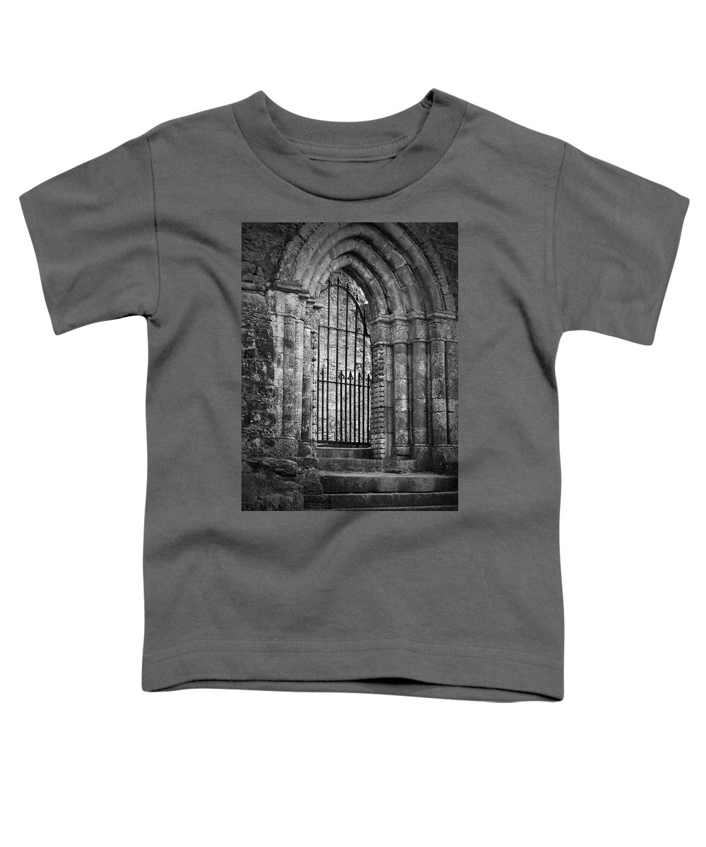 Irish Toddler T-Shirt featuring the photograph Entrance To Cong Abbey Cong Ireland by Teresa Mucha