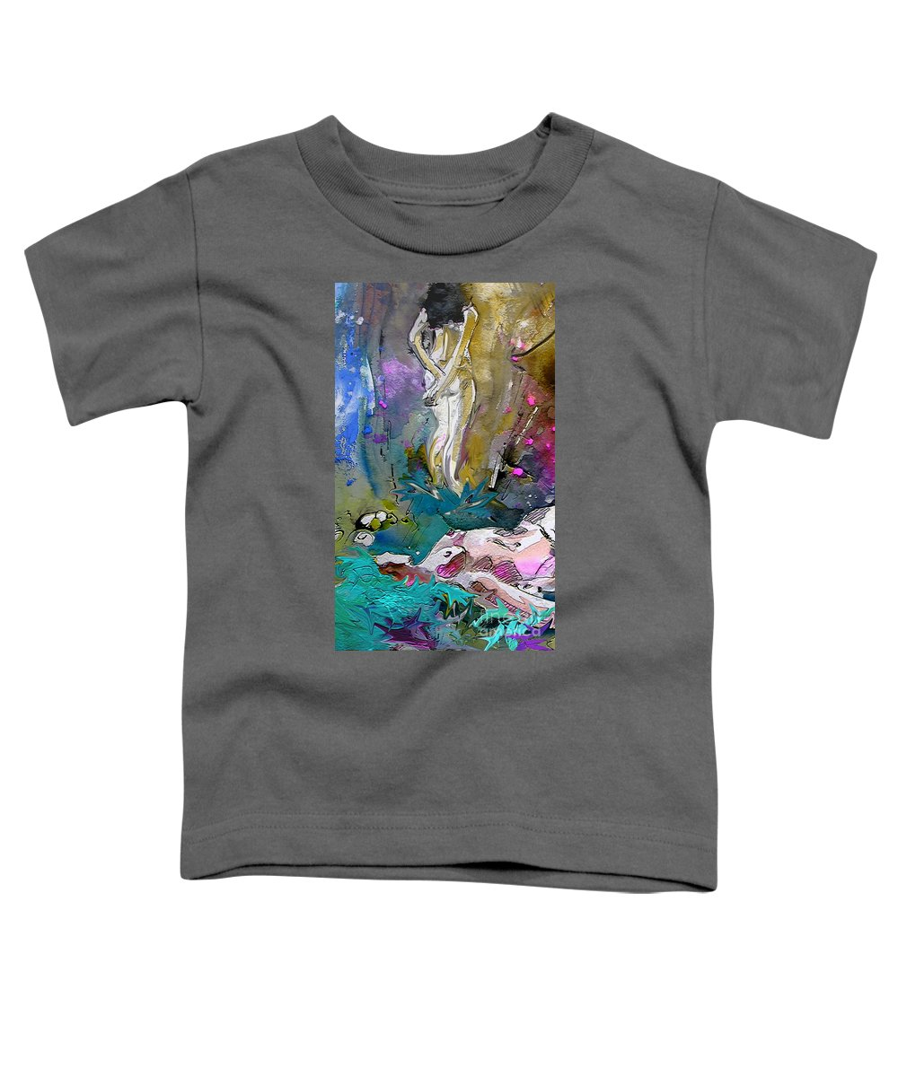 Miki Toddler T-Shirt featuring the painting Eroscape 1104 by Miki De Goodaboom