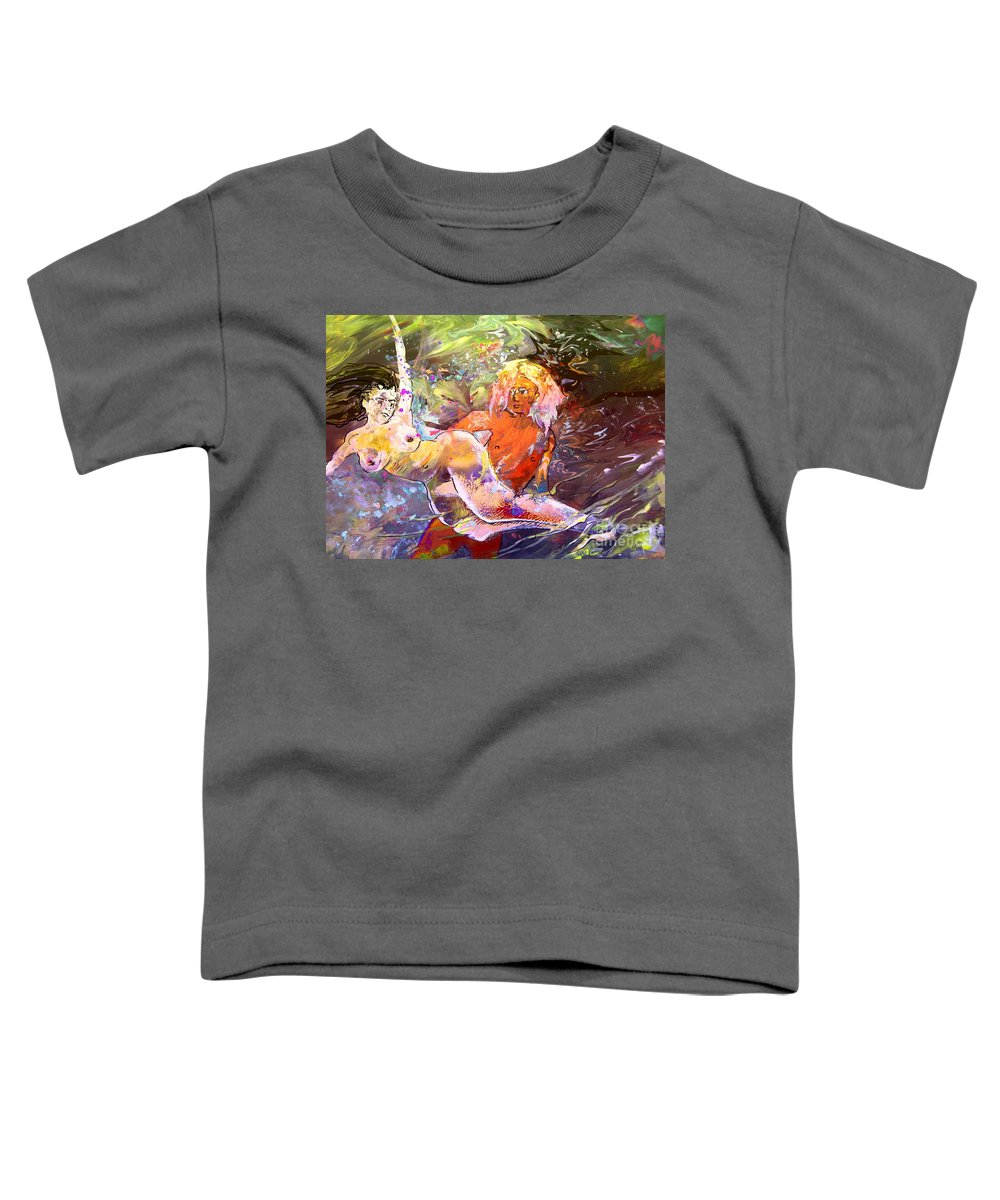 Miki Toddler T-Shirt featuring the painting Erotype 06 1 by Miki De Goodaboom