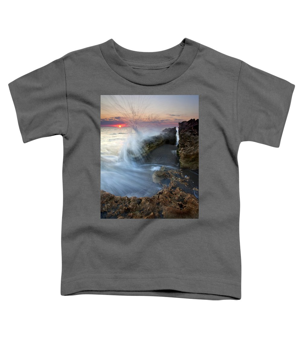 Blowing Rocks Toddler T-Shirt featuring the photograph Eruption At Dawn by Mike Dawson